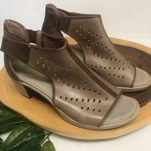 NAOT NWOT Peep Toe Leather Booties